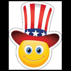Cute Patriot Emoji Sticker