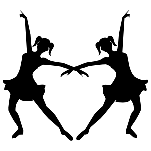 Identical Ballet Dancers Sticker