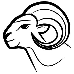 Detailed Goat Head Sticker