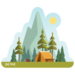 Day Camping Sticker