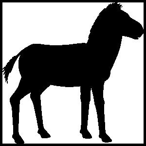 Zebra Silhouette Sticker