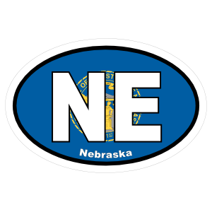 Nebraska Ne State Flag Oval Sticker