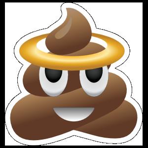 Halo Poop Emoji Sticker