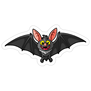 Happy Cartoon Bat Sticker