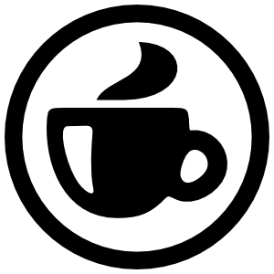 Simple Coffee Mug in Circle Sticker