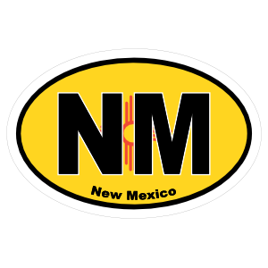 New Mexico Nm State Flag Oval Sticker