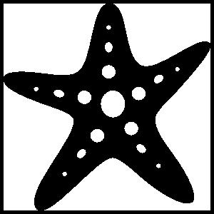Starfish With Circles Sticker