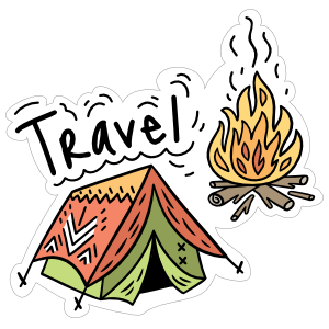 Travel Camping Sticker