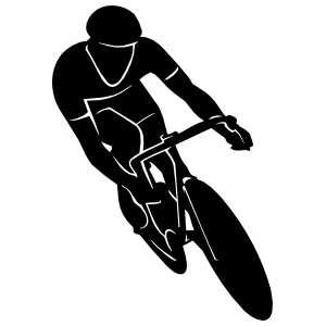 Bicycle Bicyclist Racing Sticker