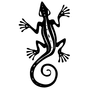 Lizard Gecko With Long Toes And Curly Tail Sticker