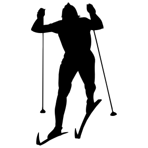Cross Country Skier Sticker