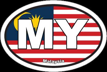 Malaysia My Flag Oval Sticker