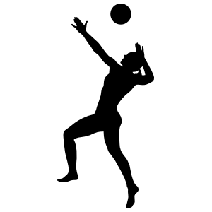 Volleyball Serve Sticker