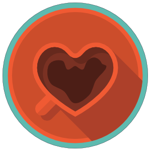 Heart Coffee Mug Sticker