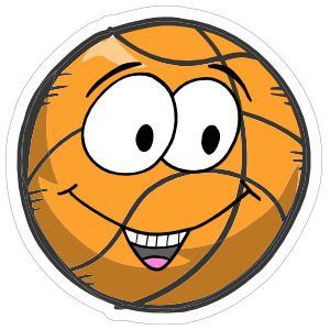 Happy Emoji Basketball Sticker
