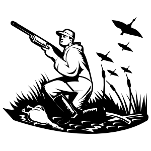 Ducks Hunting Sticker