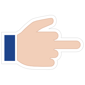 Hands Middle Finger Thumb Up RH Emoji Sticker
