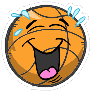Laughing Emoji Basketball Sticker