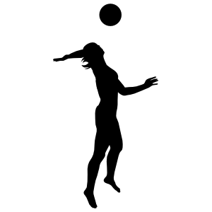 Volleyball Spike Sticker