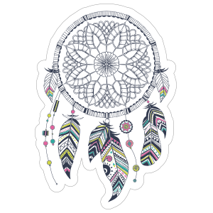Dreamcatcher with Colorful Feathers Boho Sticker