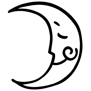 Joyful Moon Sticker