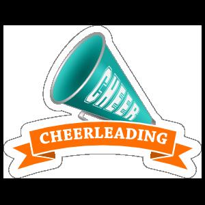 Megaphone Cheerleading Sticker