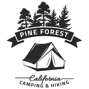 Pine Forest Camping Stickers