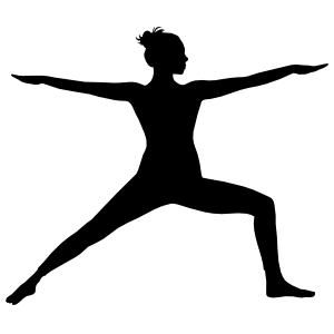 Yoga Warrior Pose Sticker