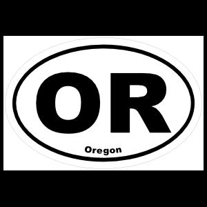 Oregon Or Oval Sticker