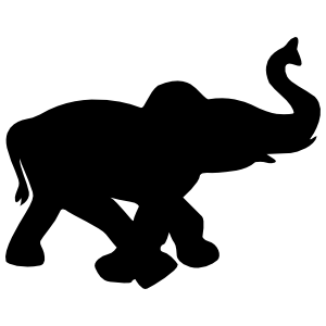 Baby Elephant Walking Sticker