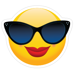 Cute Classy Sunglasses Female Emoji Sticker