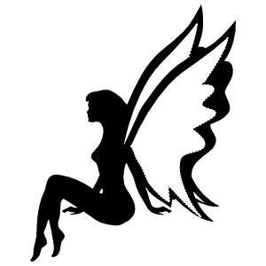 Fairy Sitting Up Sticker