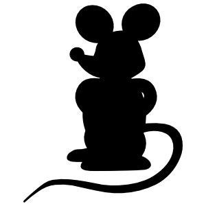 Cartoon Mouse Standing Sticker