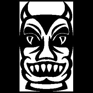 Tiki With Teeth Sticker