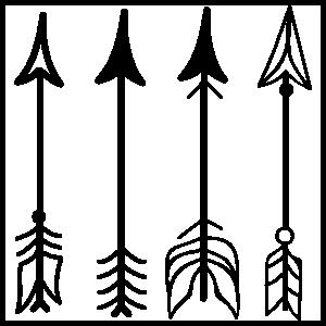 4 Arrows Sticker