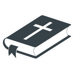 Bible with Ribbon and Cross Sticker