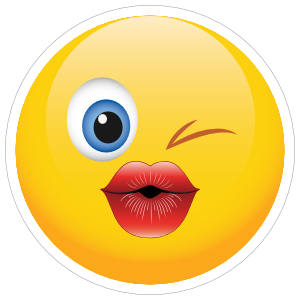 Cute Blowing a Kiss Emoji Sticker