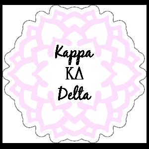 Pink Kappa Delta Mandala Sticker