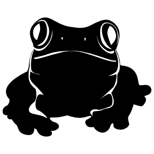 Frog Toad Face Sticker