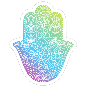 Colorful Hamsa Boho Sticker