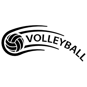 Lobbed Volleyball Sticker