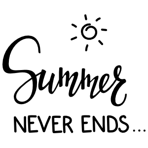 Summer Never Ends with Sun Sticker