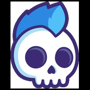 Mohawk Skull Sticker