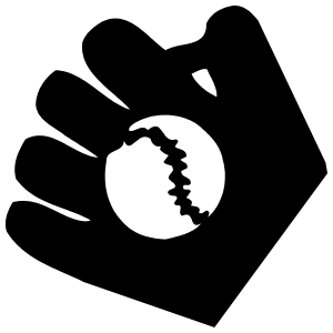 Baseball Softball Glove And Ball