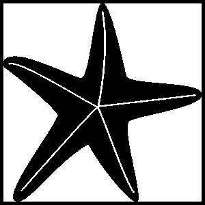 Starfish With Lines Sticker