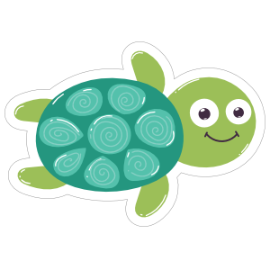 Adorable Turtle Sticker