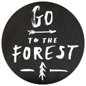 Go To The Forest Circle Sticker