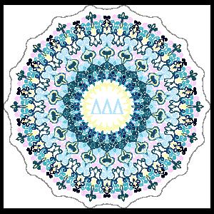 Pastel Delta Delta Delta Mandala Sticker