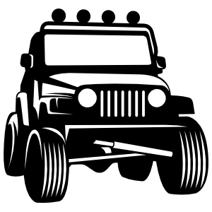 Jeep With Light Bar Sticker