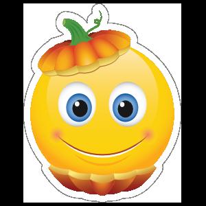 Cute Pumpkin Head Emoji Sticker
